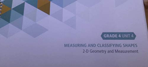 Investigations 3 in Numbers, Data, and Space Teacher's Edition grade 4 unit 4 measuring and classifying shapes, 3d geometry and measurement By Pearson