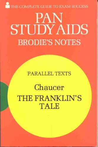 """Brodie's Notes on Chaucer's """"Franklin's Tale"""" By F. W. Robinson"""