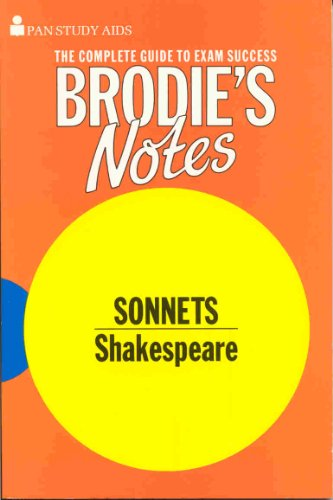 Brodie's Notes on William Shakespeare's Sonnets By Graham Handley