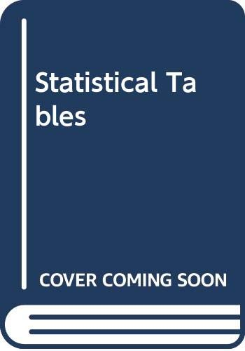 Statistical Tables By John Murdoch