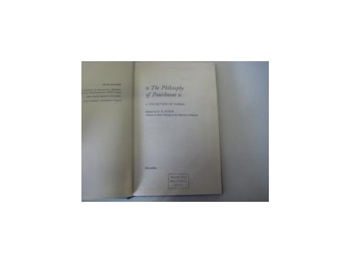 Philosophy of Punishment By Harry Burrows Acton