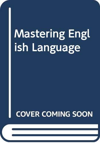 Mastering English Language (Macmillan master series) by S. H Burton
