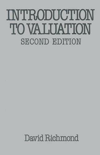 Introduction to Valuation By David Richmond