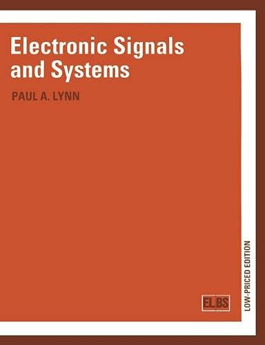 Electronic Signals and Systems By Paul A. Lynn