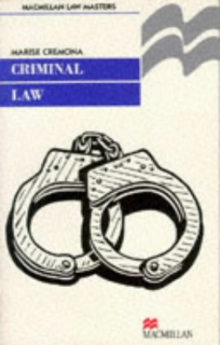 Criminal Law By Marise Cremona
