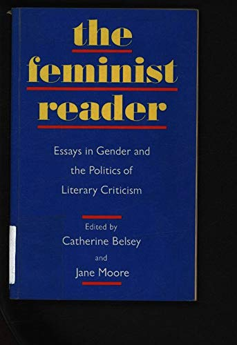 The Feminist Reader By Catherine Belsey