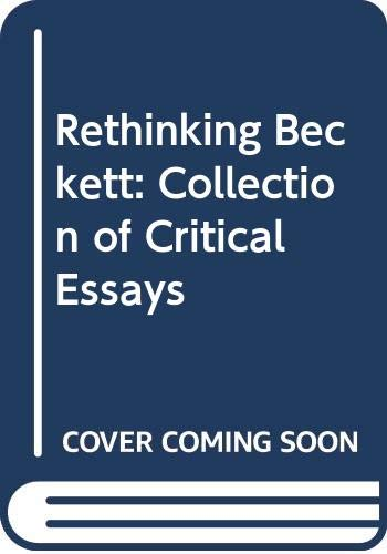Rethinking Beckett By Lance St. John Butler