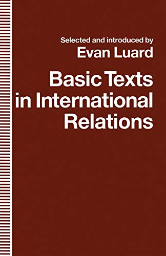Basic Texts in International Relations By Evan Luard