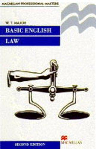 Basic English Law By W.T Major
