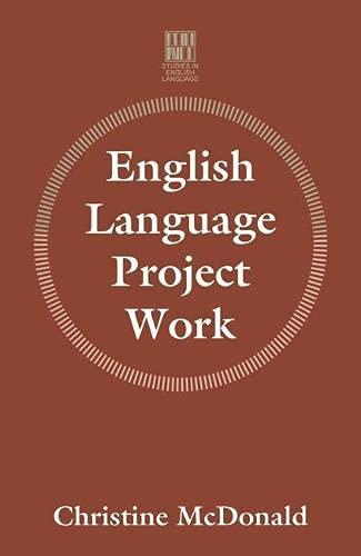 English Language Project Work By Christine V. McDonald
