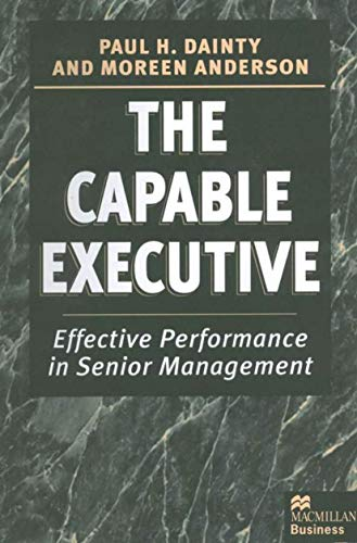 The Capable Executive By Moreen Anderson