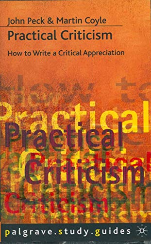 Practical Criticism By Martin Coyle