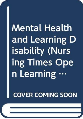 Mental Health and Learning Disability By David Carpenter