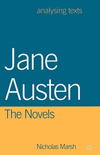 Jane Austen: The Novels par Nicholas Marsh