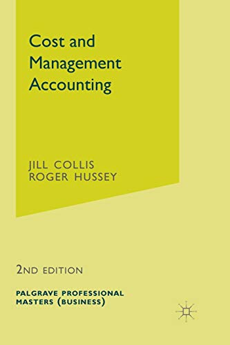 Cost and Management Accounting By Jill Collis