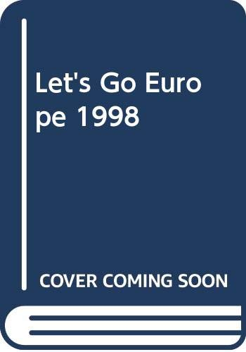 Let's Go 1998:Europe By Let's Go Inc