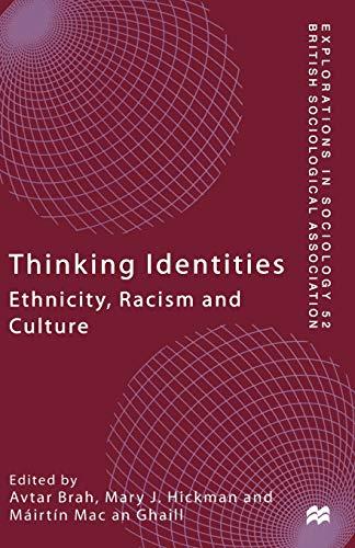 Thinking Identities By Avtar Brah
