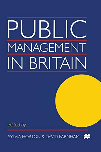 Public Management in Britain By David Farnham