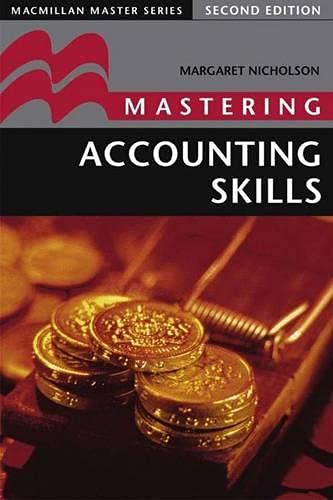 Mastering Accounting Skills By Margaret Nicholson