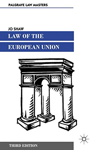 Law of the European Union By Jo Shaw