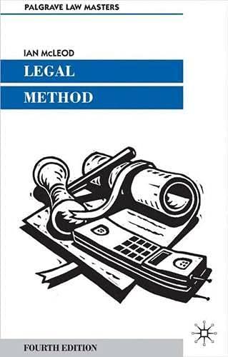 Legal Method By Ian McLeod