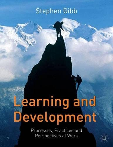 Learning and Development By Stephen Gibb