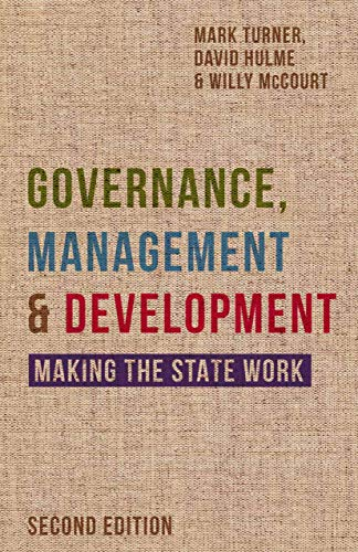 Governance, Management and Development By David Hulme