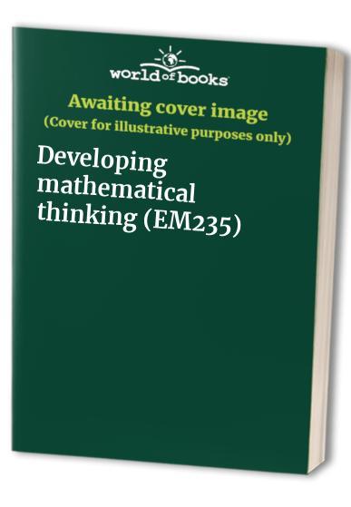 Developing mathematical thinking (EM235)
