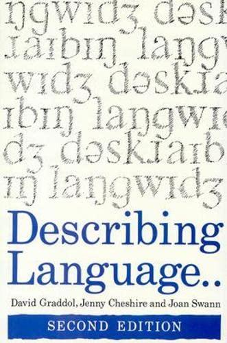 Describing Language by David Graddol
