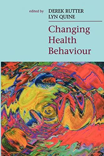Changing Health Behaviour By Jill Rutter