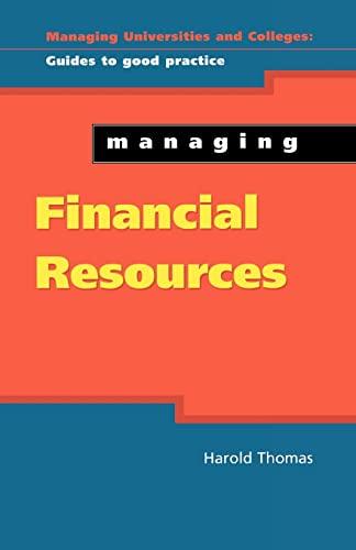 Managing Financial Resources By Harold Thomas
