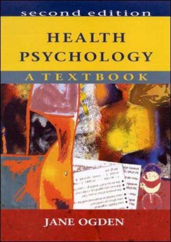 Health Psychology By Jane Ogden
