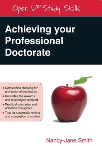 Achieving your Professional Doctorate By Nancy-Jane Smith