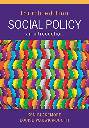 Social Policy: An Introduction By Ken Blakemore