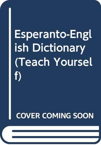 Esperanto-English Dictionary By J. C. Wells