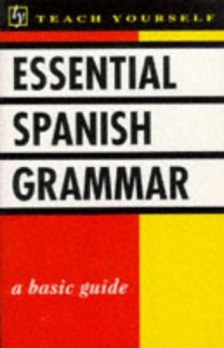 Essential Spanish Grammar By Seymour Resnick