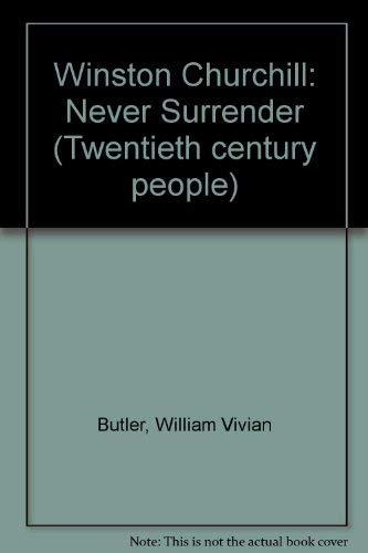 Winston Churchill By William Vivian Butler
