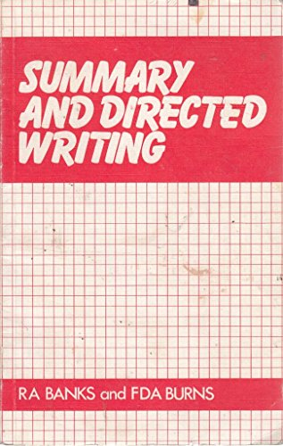 Summary and Directed Writing By R.A. Banks