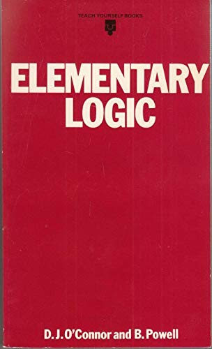 Elementary Logic By D. J. O'Connor