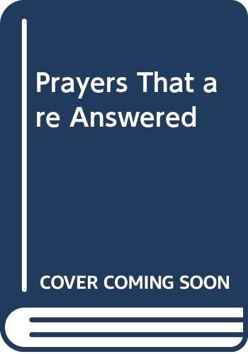 Prayers That are Answered (Hodder Christian paperbacks) By Betty Malz