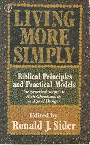 Living More Simply By Ronald J. Sider