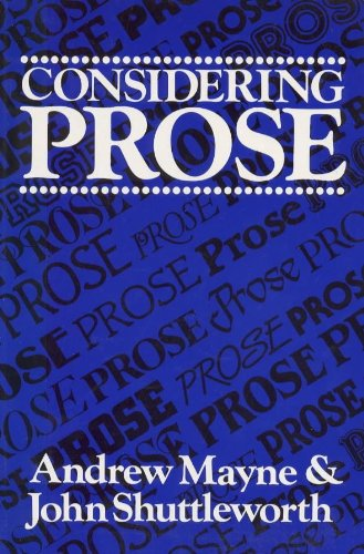 Considering Prose By Andrew Mayne