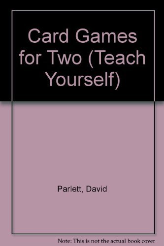 Card Games for Two By David Parlett