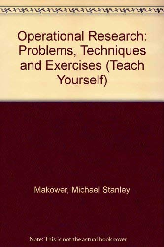 Operational Research By Michael Stanley Makower