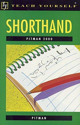Pitman 2000 Shorthand (Teach Yourself) By Pitman