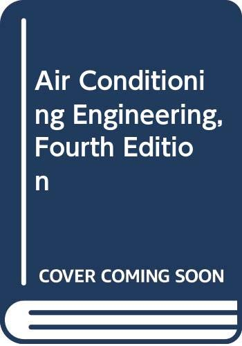 Air Conditioning Engineering By W. P. Jones