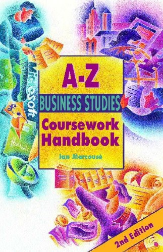 The A-Z Business Studies Coursework Handbook By Ian Marcouse