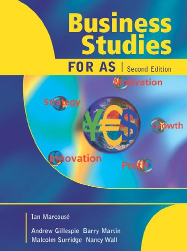 Business Studies for AS By Ian Marcouse