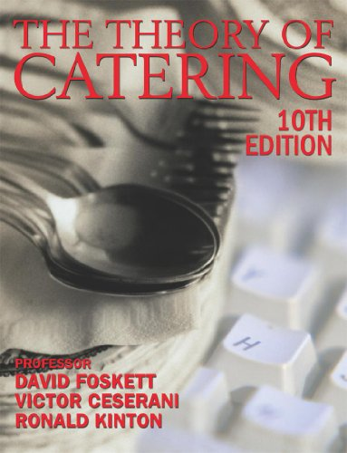 Theory of Catering 10th Edition By Ronald Kinton