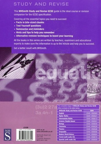 Wh Smith Study & Revise GCSE Higher Maths By Sheila Hunt